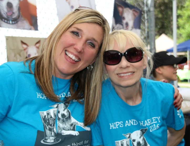Darla (on the right) with her friend, Beth, a fellow advocate for dogs.
