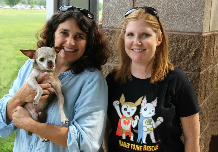 Jennifer (right) with Harley and Rudi (left) during a Meet and Greet in Coldwater, Michigan
